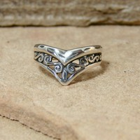 Ageless  Sterling Silver Ring  255 by Firefallstudios on Etsy