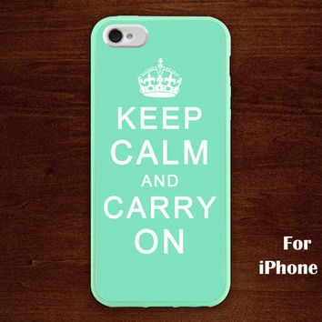 keep calm and carry on iphone 5 case, mint green iphone 5 case, case for iphone 5