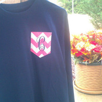 Monogrammed Pocket Tee (Long Sleeve T-Shirt)