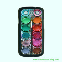 Samsung Galaxy S3 case -- Paint Box , Samsung galaxy S3 case in plastic ,color in black or white or clear