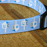 Small/Medium Dreidel Dreidel Hanukkah Dog Collar