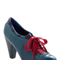 Poetic License The Estate of Things Heel in Blue | Mod Retro Vintage Heels | ModCloth.com