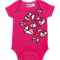 Diamonds Hot Pink One Piece