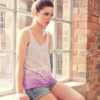 Ombre Dip Dye Peace Top from DollyUpGinger