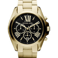 Michael Kors Watch, Women's Chronograph Bradshaw Gold Tone Stainless Steel Bracelet 43mm MK5739 - First @ Macy's! - Michael Kors - Jewelry & Watches - Macy's