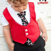 Pirate Skull Tuxedo Onesuit or Shirt by Teeny Punks - &amp;#36;28