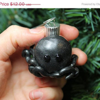 Christmas Sale Octopus Iridescent Christmas ornament glass ball Polymer clay