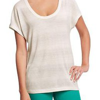 Women's Metallic-Stripe Dolman Tops | Old Navy