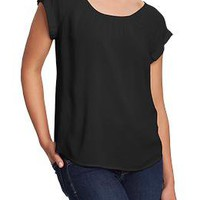 Women's Cuffed-Dolman Crepe Tops | Old Navy