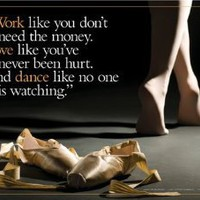 Amazon.com: Work Love Dance (Ballerina) Motivational Poster: Home & Kitchen