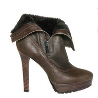Jimmy choo 115mm textured nappa and shearling boots - $358.00
