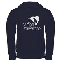 I Heart Damon Salvatore Hoodie (dark) on CafePress.com