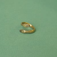 Golden protective hand ring