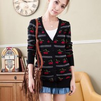 Sweet Prints Girls Knit Cardigans Black Wholesale : Wholesaleclothing4u.com
