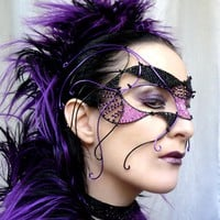 Purple And Black Cyber Goth Mask on Luulla