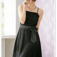 Online Wholesale Fashion Bowtie Camisole Dress Black_S/S Dresses_Wholesale - Wholesale Clothing, Wholesale Shoes, Bags, Jewelry, Wholesale Fashion Apparel & Accessories Online