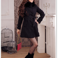 Warmmer Ladies Loved Big Buttons Coats Black_F/W Coats_Wholesale - Wholesale Clothing, Wholesale Shoes, Bags, Jewelry, Wholesale Fashion Apparel &amp; Accessories Online