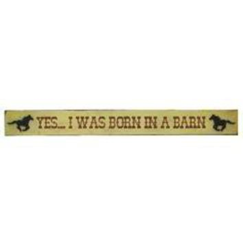 Yes, I Was Born In A Barn Tin Sign - Hobby Lobby