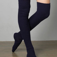 Funky Chunky Knee Socks in Navy - &amp;#36;25.00 : Fashion Tights, Socks &amp; Legwarmers at LuLus.com
