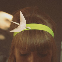 $22.06 NEON little crane HEADBAND by HummingKim on Etsy