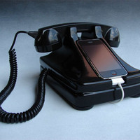 Rotary phone charging dock for the iPhone | Doobybrain.com