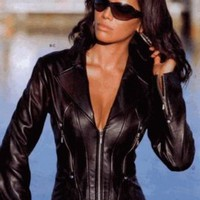 Livid Leather Womens Sexy Lambskin Supple Leather Jacket - Black : Leather Jackets