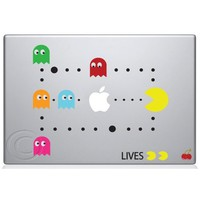 Pac Man Scene Macbook Decal Mac Apple skin sticker