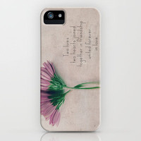 Two lives, two hearts joined together in friendship united forever in love iPhone Case by secretgardenphotography [Nicola] | Society6