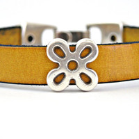 Bamboo leather bracelet by TyssHandmadeJewelry on Etsy
