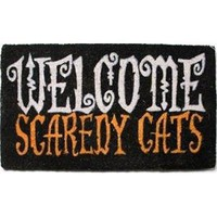 Welcome Scaredy Cats Coir Doormat