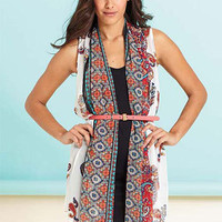 Vera Paisley Chiffon Vest Dress