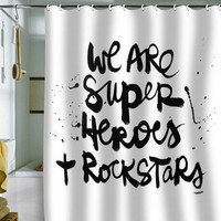 DENY Designs Home Accessories | Kal Barteski Superheroes Shower Curtain