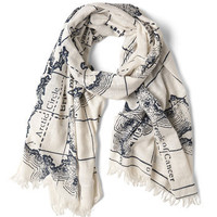 Mercator to Your Tastes Scarf | Mod Retro Vintage Scarves | ModCloth.com