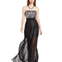 MM Couture Dress, Strapless Straight Sequin Chiffon Maxi - Womens Dresses - Macy&#x27;s