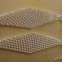 Famous Sterling Silver Dangle Mesh earring
