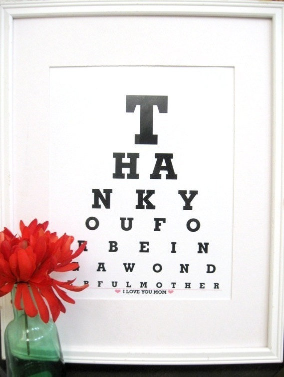 Christmas Gifts For Mom Mom Gift Mother From Eyecharts On Etsy
