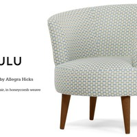 Lulu Scoop Chair in honeycomb weave | made.com