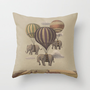 Flight of the Elephants  Throw Pillow by Terry Fan | Society6