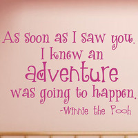 Winnie the Pooh Quote Vinyl Wall Decal - Children's Vinyl Lettering - Nursery Vinyl Wall Art