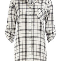 White check boyfriend shirt - Lingerie &amp; Nightwear - Clothing - Dorothy Perkins