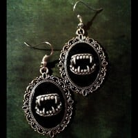 Gothic Earrings 'Dracula' by SpiderStratagem on Etsy