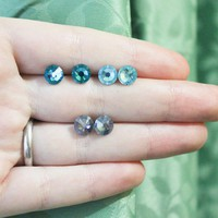 Set of Three Swarovski Studs on Stainless Steel Posts - by sew340 on madeit