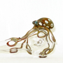 Octopus Pipe Glass Spoon Medium Hand Blown Thick Wall