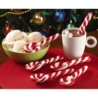 Peppermint Candy Cane Spoons - Set Of 6 By Collections Etc