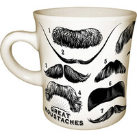 Great Moustaches Mug :: Unemployed Philosophers Guild