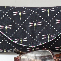 Dragonfly Eyeglass Case with Magnetic Closure GREAT STOCKING STUFFER