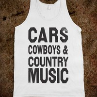 Cars Cowboys And Country Music Tank - Shake it for Luke Bryan