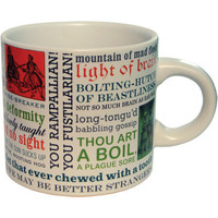 Shakespearean Insults Mug::Unemployed Philosophers Guild