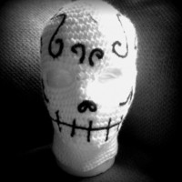 Extended Holiday Sale- 15% Mark Down- Sugar Skull Ski Mask