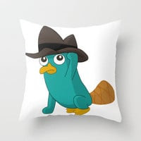 Baby Perry the Platypus Throw Pillow by xjen94 | Society6